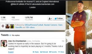 Oxlade-Chamberlain Twitter account