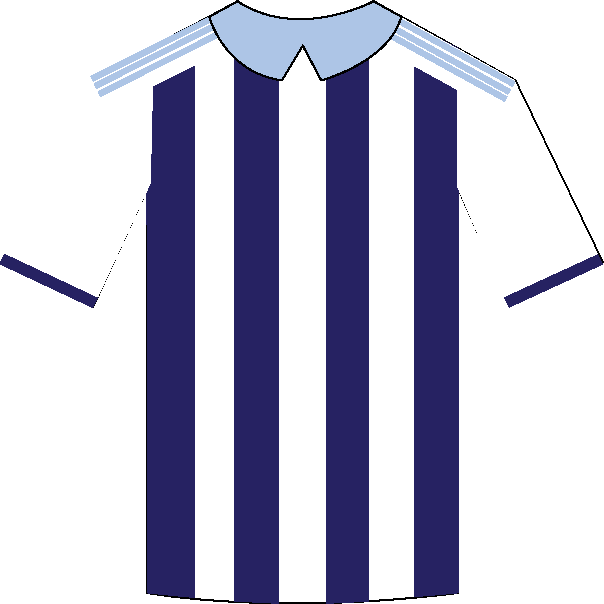 West Bromwich Albion home shirt