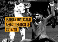 Important Injuries Heading in to the End of 2017/18